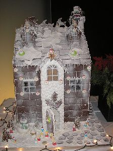 gothic gingerbread house template  Free Gingerbread House Templates and Recipes | Metaphorical ...