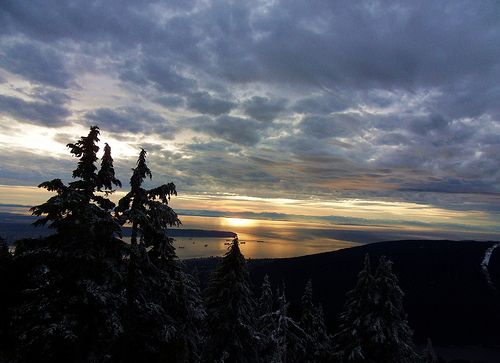 Grouse Mountain Snowshoe Grind View