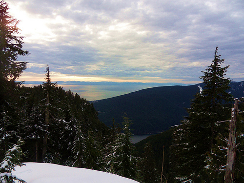Snowshoe Grind View