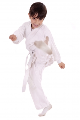 Boy Practicing Karate