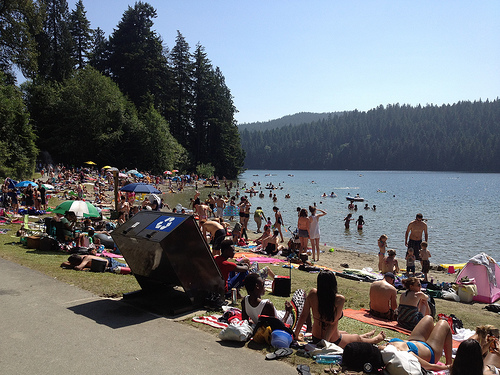 People at Sasamat Lake