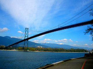 Vancouver Seawall Lions Gate Bridge