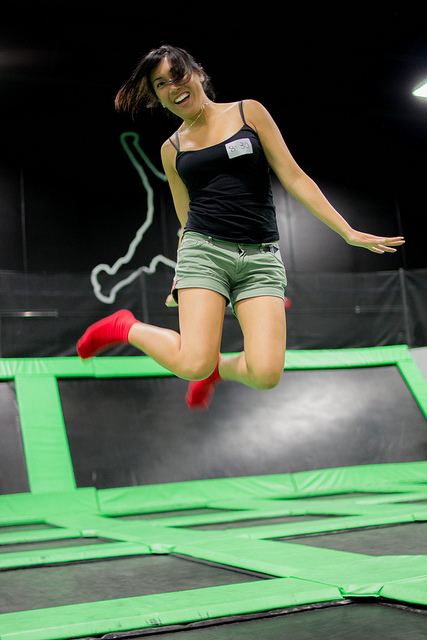 Woman at Trampoline Park