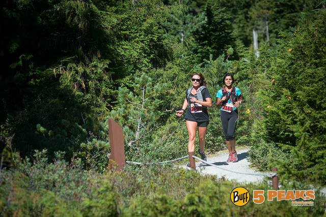 Me, running one of the easier stretches of the Cypress Mountain Trail Race