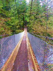 Suspension Bridge at Buntzen Lake
