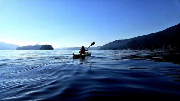 Kayaking at Deep Cove